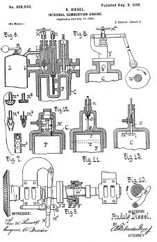 Patent-Kunstdruck ' Dieselmotor'