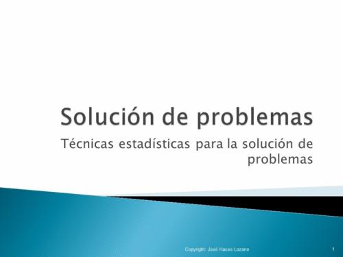 Solución de Problemas de Calidad