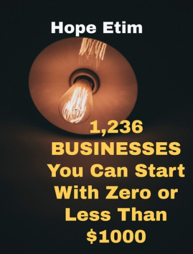 1236 Businesses You Can Start With Zero or Less Than $1000