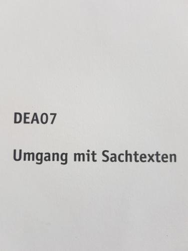 SGD Einsendeaufgabe DEA07 Deutsch Note 1,8