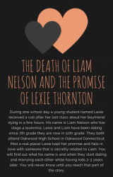 The Death of Liam Nelson and the promise of Lexie Thornton