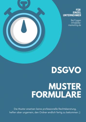 DSGVO Musterformulare für Datenschutzordner