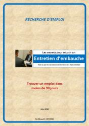 LES SECRETS POUR REUSSIR UN ENTRETIEN D'EMBAUCHE