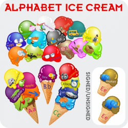 Ice Cream Alphabet