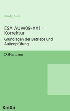 ESA AUW09-XX1 + Korrektur