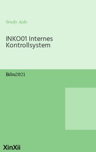 INKO01 Internes Kontrollsystem