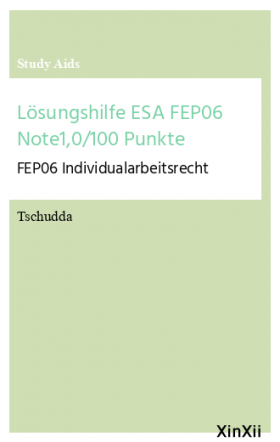 Lösungshilfe ESA FEP06 Note1,0/100 Punkte