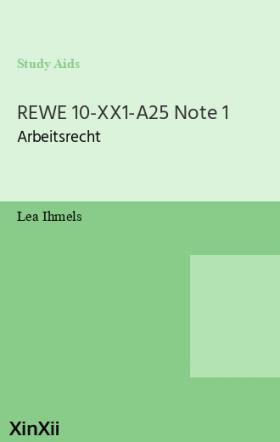 REWE 10-XX1-A25 Note 1