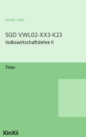 SGD VWL02-XX3-K23