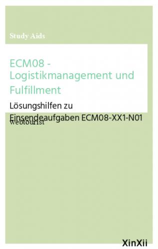 ECM08 - Logistikmanagement und Fulfillment
