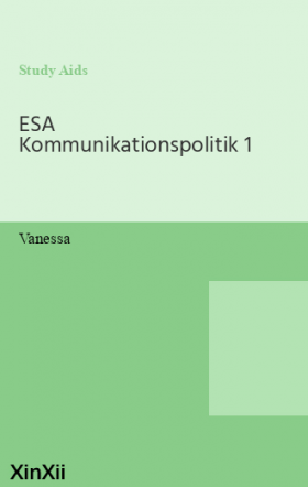 ESA Kommunikationspolitik 1