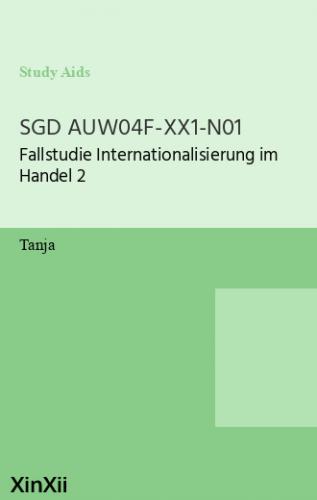 SGD AUW04F-XX1-N01