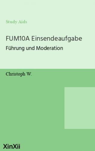 FUM10A  Einsendeaufgabe