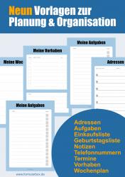 Meine Vorlagen - 9 Vorlagen zur Planung und Organisation