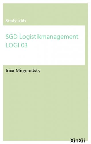 SGD Logistikmanagement LOGI 03