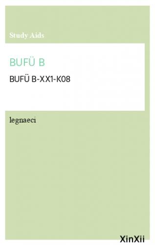 BUFÜ B