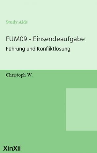 FUM09 - Einsendeaufgabe