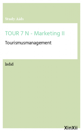 TOUR 7 N - Marketing II