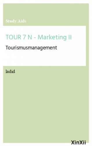 TOUR 7 N - Marketing II