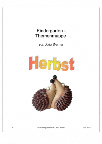 Kindergarten-Themenmappe