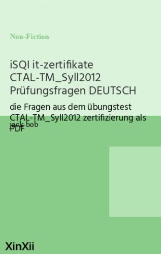 iSQI it-zertifikate CTAL-TM_Syll2012 Prüfungsfragen DEUTSCH
