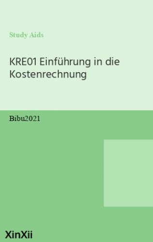 KRE01 Einführung in die Kostenrechnung