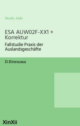 ESA AUW02F-XX1 + Korrektur