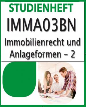 Geprüfter Immobilienmakler SGD-Fernkurs776 (IMMA03BN-XX) Note1