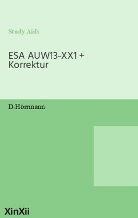 ESA AUW13-XX1 + Korrektur