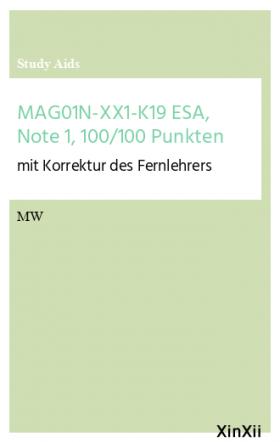 MAG01N-XX1-K19 ESA, Note 1, 100/100 Punkten