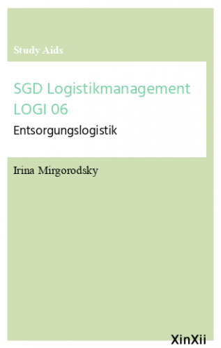 SGD Logistikmanagement LOGI 06