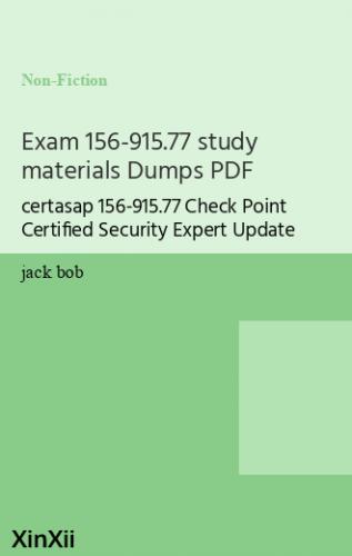 Exam 156-915.77 study materials Dumps PDF