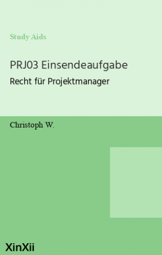 PRJ03 Einsendeaufgabe