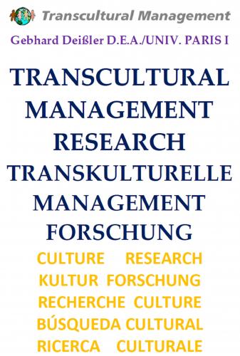 TRANSCULTURAL MANAGEMENT RESEARCH