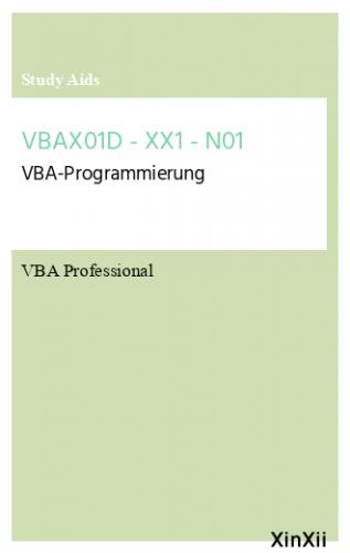 VBAX01D - XX1 - N01