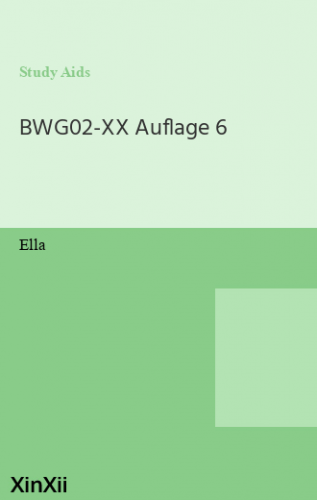 BWG02-XX Auflage 6