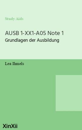 AUSB 1-XX1-A05 Note 1