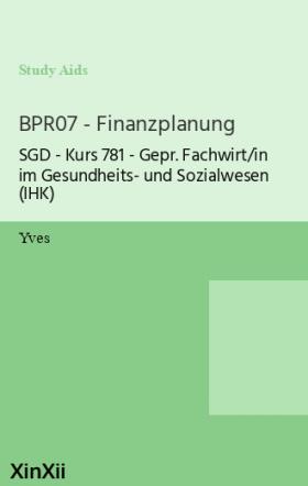 BPR07 - Finanzplanung