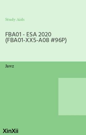 FBA01 - ESA 2020 (FBA01-XX5-A08 #96P)