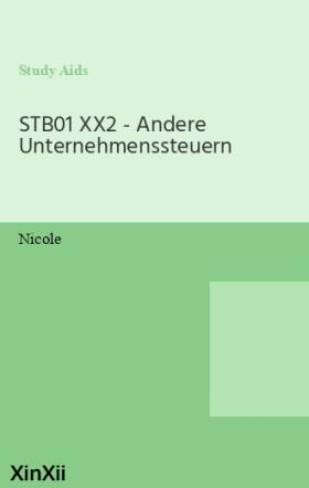 STB01 XX2 - Andere Unternehmenssteuern