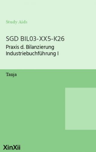 SGD BIL03-XX5-K26