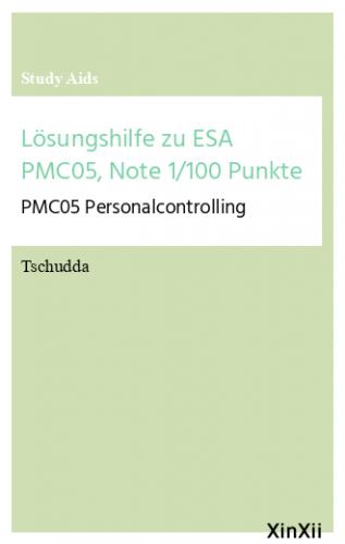 Lösungshilfe zu ESA PMC05, Note 1/100 Punkte