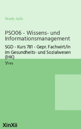 PSO06 - Wissens- und Informationsmanagement
