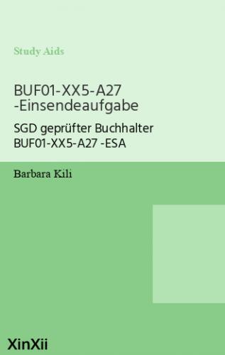 BUF01-XX5-A27 -Einsendeaufgabe