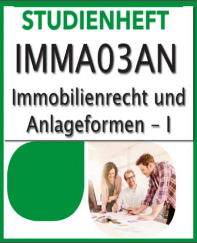 Geprüfter Immobilienmakler SGD-Fernkurs776 (IMMA03AN-XX) Note1