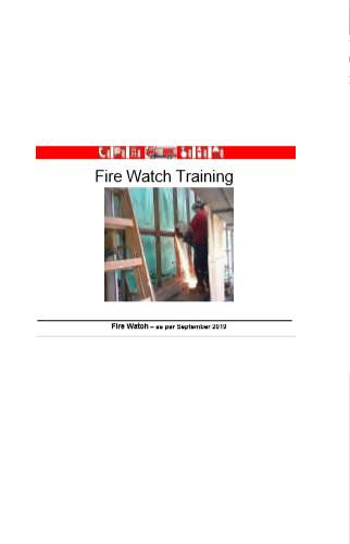 Training Fire Watch Industrie in English