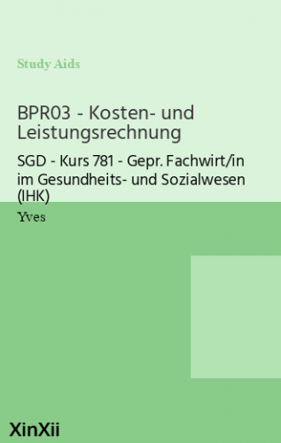 BPR03 - Kosten- und Leistungsrechnung