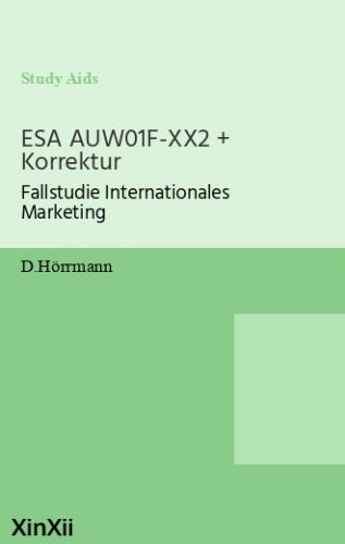 ESA AUW01F-XX2 + Korrektur