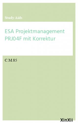 ESA Projektmanagement PRJ04F mit Korrektur