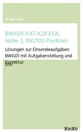 BWG01-XX7-K29 ESA, Note: 1,  100/100 Punkten